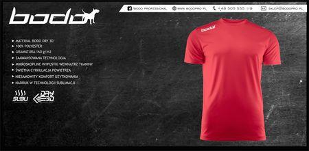 Koszulka BODO PRO czerwona (1)