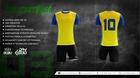 Komplet sportowy BODO VIENTO sublimacja zółto/niebieski