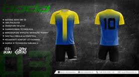 Komplet sportowy BODO MATCH sublimacja zółty/niebieski