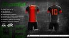 Komplet sportowy BODO KING sublimacja czarny/czerwony