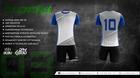 Komplet sportowy BODO STRIKER 3d biały/popiel/niebieski