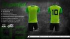 Komplet sportowy BODO STRIKER 3d jasna zieleń/zielony