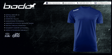 Koszulka BODO PRO granatowa (1)