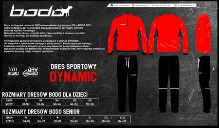 Dres treningowy BODO DYNAMIC czerwony-czarny (1)