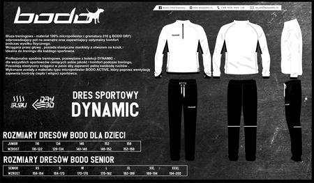 Dres treningowy BODO DYNAMIC biały-czarny (1)