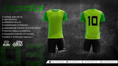 Strój sportowy BODO ALPHA 3d jasna zieleń/zielony (1)